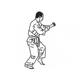 Patchwork vytlačovač Bojové umenie - Karate/Judo Man - Patchwork Cutters
