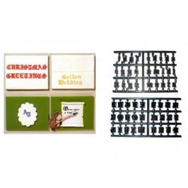 Patchwork vykrajovačka Stará anglická abeceda - Old English Alphabet - Patchwork Cutters