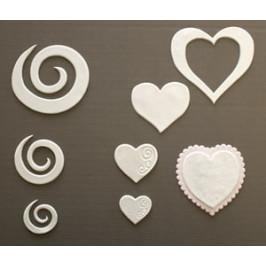 Patchwork vykrajovačky Srdce a filigránky - Patchwork Cutters