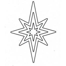 Vykrajovátko Hvězda 8cípá - sada -