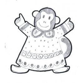 Vykrajovátko - Opice v pyžamu -