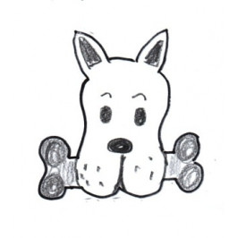 Vykrajovátko - Pes s kostí 75 x 75 mm -