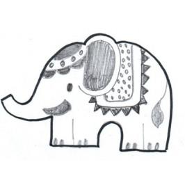 Vykrajovátko - Slon malý 70 x 90 mm -