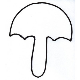 Vykrajovátko - Deštník -