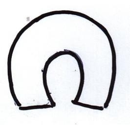 Vykrajovátko - Podkůvka 40 x 40 mm -