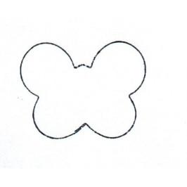 Vykrajovátko - Motýl mini 30x20 mm -