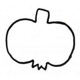 Vykrajovátko jablko s bubákem 6,5 cm -