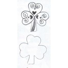 Vykrajovátko trojlístek (jetelíček)  5 cm -