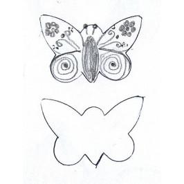Vykrajovátko - Motýlek špičatý -