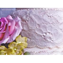 Silikónová forma vyšívaná krajka - Amy Vintage Lace Border - Karen Davies