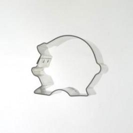 Vykrajovátko - Prasátko malé kulaté 44 x 35 mm -