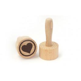 Dřevěné razítko na těsto, sušenky a cookies - srdíčko - ORION domácí potřeby