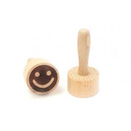 Dřevěné razítko na těsto, sušenky a cookies - smajlík - ORION domácí potřeby