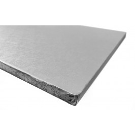 Dortová podložka stříbrná čtverec 500 x 500 mm - silná 1 cm - Modecor