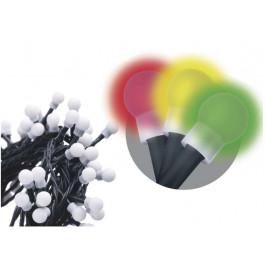 Emos Vianočná reťaz LED CHERRY multifunkčná 20m multicolor ZY1454