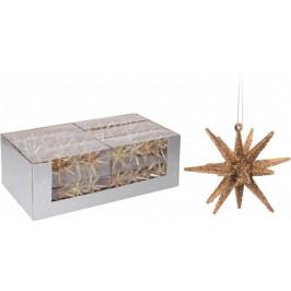 Makro 79049 Hviezda vianočná 4ks 7,5x7,5cm mix
