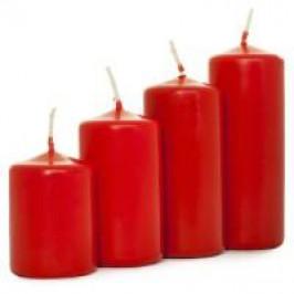 Florasystém 41861 Sviečka adventná postupná 40/4 matná červená