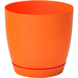 Strend Pro 255075 Kvetinac Toscana round, 19x18,5 cm, 4,4 lit, oranžový