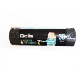 Balis 43,48 Vrecia zaťahovacie na odpad 30l LDPE 50x60 / 15 ks čierne