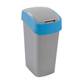 Strend Pro 2211246 Kôš Curver® FLIP BIN 10L, šedostříbrná/modrá, na odpadky