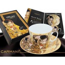 Carmani 5320221 Šálka s podšálkou KLIMT Kiss 250ml