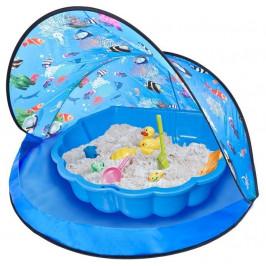 Paradiso Sun&Fun box Modrý stan s pieskoviskom - bazénom mušľa a loptičkami 228362