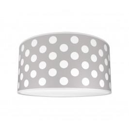 Lampdar Detské stropné svietidlo DOTS GREY 2xE27/60W/230V šedá