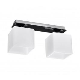 Sollux Stropné svietidlo PIAZZA 2 2xE27/60W/230V biela/čierna