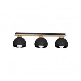 Decoland Prisadený luster DAMA 3xE27/60W/230V čierna
