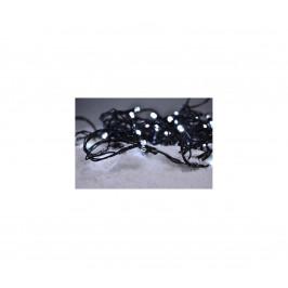 Solight LED vonkajšia vánočná reťaz, 100 LED, 10m, prívod 3m, 8 funkcií, časovač, IP44, studená biela, 1V101
