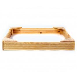 Pieskovisko drevené štvorhranné malé
