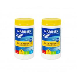 Marimex Chlor Komplex 5v1 1,0kg - sada 2 ks