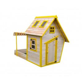Detský drevený domček s pieskoviskom Flinky
