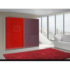 ArtMadex Šatníková skriňa Lux červená Prevedenie: LUX 12
