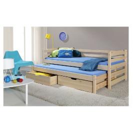ArtBed Detská posteľ s prístelkou Marcin Prevedenie: Borovica prírodná
