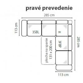 Stagra Rohová sedacia súprava MELLO Prevedenie: Pravé - 3SBL+R+3FBP