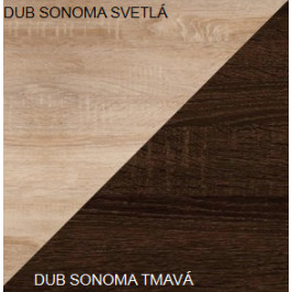 WIP Predsieň 7 Farba: Dub sonoma svetlá / dub sonoma tmavá