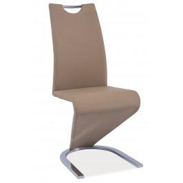 Signal Jedálenská stolička H-090 chróm / béžová