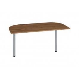 MLnábytok Prídavný kancelársky stôl OPTIMAL 17 / orech prírodný