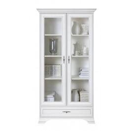 BRW Vitrína Idento REG2W1S Farba: biely