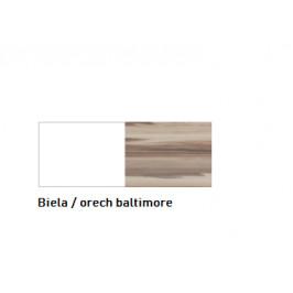Meblar  Veľká komoda MORENA Farba: Biela / orech baltimore
