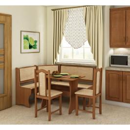 WIP Rohový set so stoličkami Prevedenie: Jelša / Monaco / Stolička A