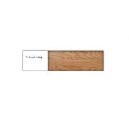 Drewmax Jednolôžková posteľ - masív LK260 | 80 cm dub Farba: Dub prírodný