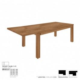 Drewmax Jedálenský stôl - masív ST302 / S45cm - hrúbka 2,5cm / dub Prevedenie: B 120 x 75 x 80 cm