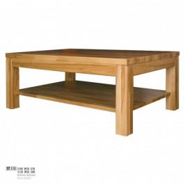 Drewmax Konferenčný stolík - masív ST310 - hrúbka 4 cm / dub Prevedenie: A 100 x 50 x 70 cm