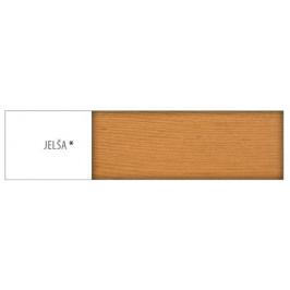 Drewmax Jednolôžková posteľ - masív LK146 | 100 cm borovica Morenie: Jelša