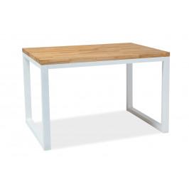 Signal Jedálenský stôl Loras II / Dubová dýha Prevedenie: Biela - 77 x 90 x 150 cm