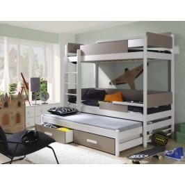 ArtBed Detská poschodová posteľ Quatro Prevedenie: Borovica prírodná