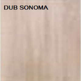 ArtMadex Šatníková skriňa PENELOPA 205 / AUTO 1 Farba: dub sonoma