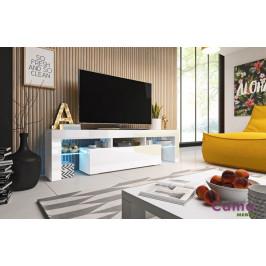 Artcam RTV stolík TORO 158 cm Farba: Biela/biely lesk